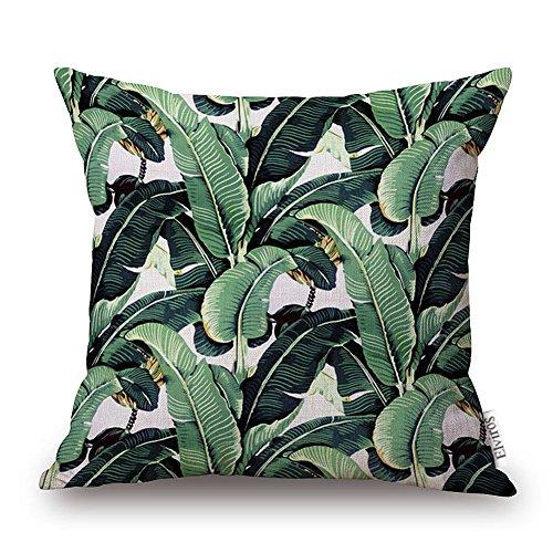 elviros-dekorativ-baumwoll-leinen-mix-kissenbezug-45-x-46cm-tropische-blatter