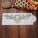 + 10pulgada para tarta bordes de ing diseño elegante, para Café plantillas, herramienta de decoración de tartas