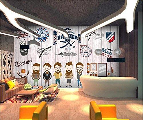 H&M Tapeten-modernes kreatives Persönlichkeits-Muster 3D kundenspezifische Wandgemälde dekorativer Friseursalon/Friseursalon/Schönheits-Geschäft, F
