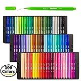 Shuttle Art–Rotulador de color Pen Set, 100colores 0,4mm línea fina de rotulador de dibujo (punta fina marcadores perfecto para adulto para colorear libros y bala diario proyectos de arte