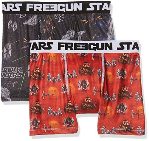 Star Wars Freegun, Boxer Uomo, (pacco da 2) Mehrfarbig (MULTICOLOR A24)