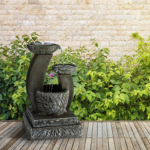 blumfeldt fantaghiro fuente ornamental de jard n con panel