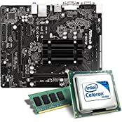 Intel Celeron J1900 / ASRock Q1900M Mainboard Bundle / 4096 MB | CSL PC Aufrüstkit | Intel Quad-Core J1900 4x 2000 MHz, 4096MB DDR3, Intel HD Graphics, GigLAN, 5.1 Sound, USB 3.1 | Aufrüstset | PC Tuning Kit