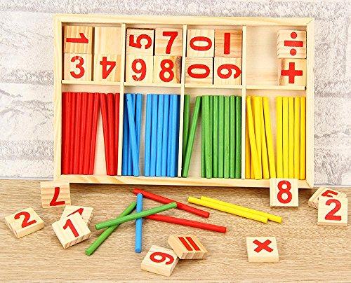Neue Produkt Baby Bildung Toys Holz Counting Sticks Toys Montessori Mathematische Werkzeug Holz Building Box Rot Internationale Werkzeug-boxen