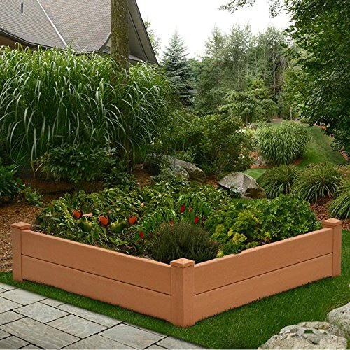 Vita 120x120cm Durable Weather Resistant Composite Raised Garden Bed with GroGrid