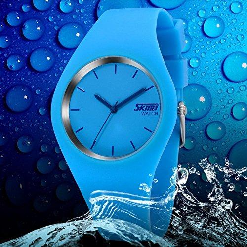 Sunshine Day Marke SKMEI 9068Casual einfache Stil Silikon Riemen Unisex Armbanduhr Sport Uhren, Mann Frauen Uhren