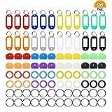 Meetory 96Lot touches organisation, 4Styles, 48pièces en caoutchouc capuchon de touche kit de Couvertures et 24pièces étiquettes en plastique coloré Identificateur Clé avec porte-clés de 24pièces