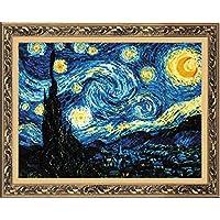 Riolis - Kit punto croce, motivo: la Notte Stellata di Van Gogh - Contati Punto Croce Tessuto