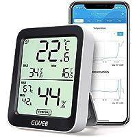 Govee Thermomètre Hygromètre Intérieur Petit Moniteur Mini Numérique à Haute Précision Capteur Humidité Température, LCD…