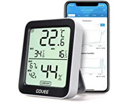 Govee Termometro Igrometro, accurato Misuratore Interna con Intelligenti avvisi App e Dati conservazioni sensore di monitorag