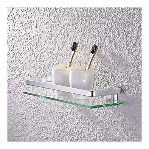 QingH yy Pared Cesta Ducha Baño Vidrio Estante Aluminio