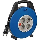 Brennenstuhl Vario Line Kabelbox 4-voudig/mini-kabelhaspel (indoor kabelhaspel voor huishouden, 10 m kabel, Made in Germany)