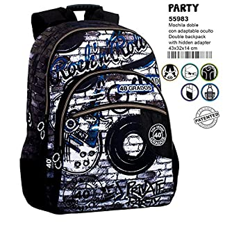 40º Grados Party Mochila Grande Doble Adaptable a Carro