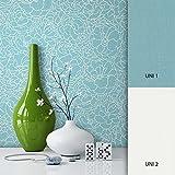 NEWROOM Blumentapete Türkis Vliestapete Muster/Motiv schöne moderne und edle Design Optik, inklusive Tapezier Ratgeber