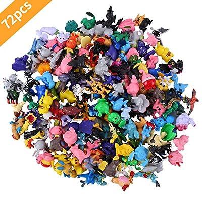 Pokemon Monster, 24 piezas Pokemon Monster Mini Figure Pokemon Pikachu para Regalos y Fiestas para Niños por Colfeel
