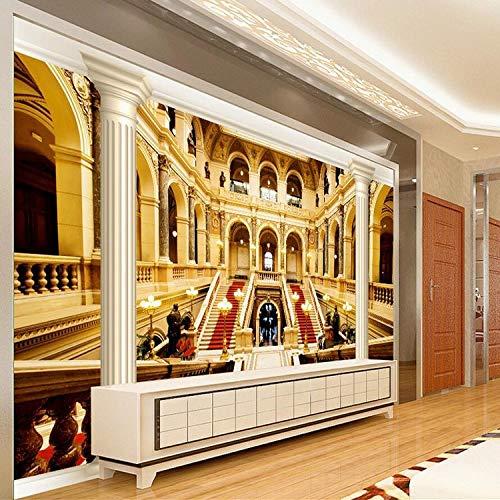 """BZDHWWH Benutzerdefinierte Fototapete Europäischen Stil Griechischen Palast Tapete Wohnzimmer Bar Hotel Lobby Decke 3D Wandbild Tapete,10'10"""" X 6'11""""(Ft)"""