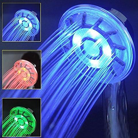 Colonne Bleu Salle De Bain - Salle de bain LED pommeaux de douche