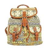 Hermosa mochila multicolor con estampados étnicos modelo 2017