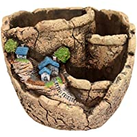 Maceta creativa de hadas para plantas y jardín con soportes, de la marca Horbous,