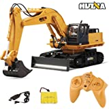 HUINA 1510 RC Excavator Metal Truck For Kids Engineering Toy Car 11 Channels 2.4GHz Remote Control 1/16 Electric RC Model By