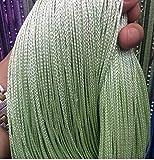 Yiyida, Fadenvorhang mit dichten Fransen und Stabaufhänger, Raumteiler, Paar, 100x 200cm, verschiedene Farben grün