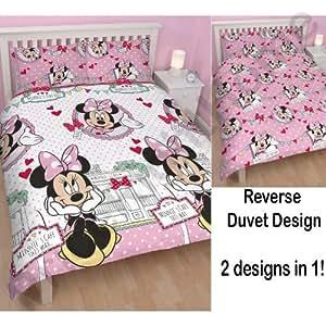 Disney Minnie Mouse Café rotatif Double ensemble de literie