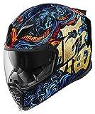 Icon Airflite fortuna blu/oro casco moto