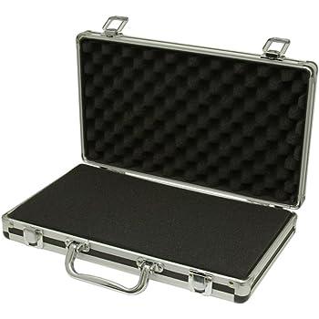 Executive Aluminium Business Laptop Flight Case Briefcase Storage Box Bag  Black C.R.
