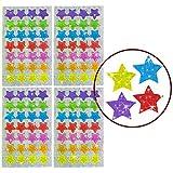 Oblique Unique - 112 x Glitzer Sticker Sterne bunt - Regenbogen Sticker für Kinder