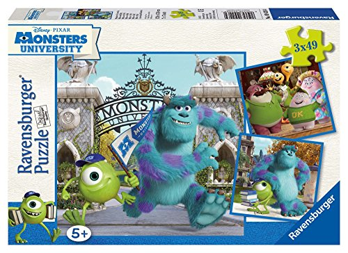 Ravensburger 09426 - Disney Monster, University Mike und Sully Puzzle, 3 x 49 Teile