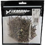 Fixman verzinkte spaanplaatschroeven, verpakking van 200 4 x 40 mm goud
