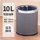 Znzbzt Mülleimer Idee Home Badezimmer Schlafzimmer Etagenbett einfache Behälter ohne Deckel 10L