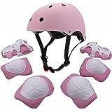 Conjunto protector deportivo para jóvenes de F&U, codera, rodillera, muñequera, almohadilla de seguridad, protector para pati