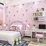 Kinderzimmer Tapete Mädchen Schlafzimmer Rosa Reines Papier Cartoon Schmetterling Prinzessin Zimmer Tapete , foundation am82046