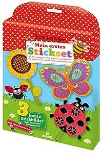 moses. Verlag GmbH 16103Gateo Mariquita Mi Primer Juego | con Purpurina de Pegatinas para Decorar | para niños a Partir de 5años