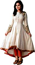 Salwar Suit in embroidered Cotton Material Off-White Party wear Collection Suit (Semi-Stiched)