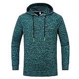 Xmiral Herren Hoodie Sweatshirt Große Größe Outdoor Sports Gebrochene Streifen Mit Kapuze Top Bluse(M,Grün)