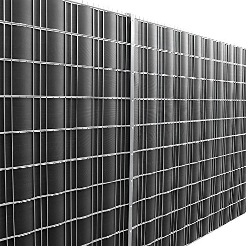 [neu.haus] Zaunfolie Sichtschutzfolie (schwarz)(35m) für Zäune und alle Flächen zum einflechten