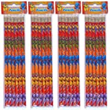 12 Superhero Pencils