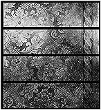 Wallario Möbelfolie/Aufkleber, geeignet für Ikea Malm Kommode - Schnörkelmuster in grau mit 4 Schubfächern