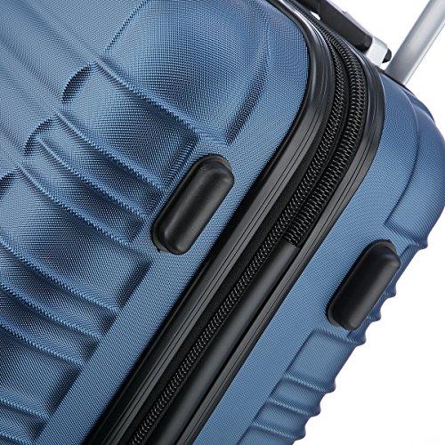 Reisekoffer 2088 Hartschalekoffer Gepäck Koffer Trolley Bordcase Handgepäck M in 14 Farben (Blau) - 4
