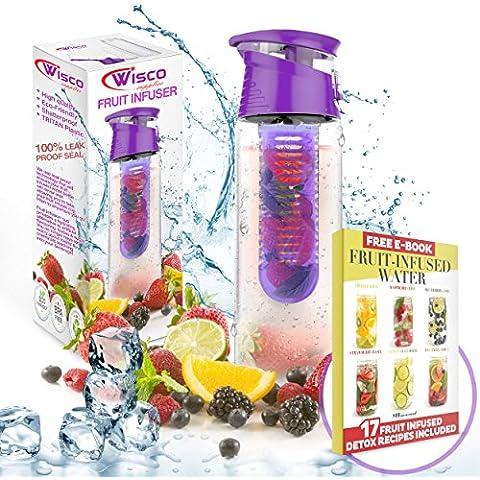 Bottiglia d'acqua infusore frutta, 800ml, a perfetta tenuta, ideale per