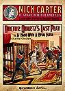 Nick Carter - La dernière partie du Docteur Quartz par Coryell