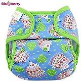 Blueberry Capri en tissu–Hedgehogs (pression Gravier)–Taille Unique (5,5–16kg)–Couches, couvre-couche, pantalon Prefolds Convient