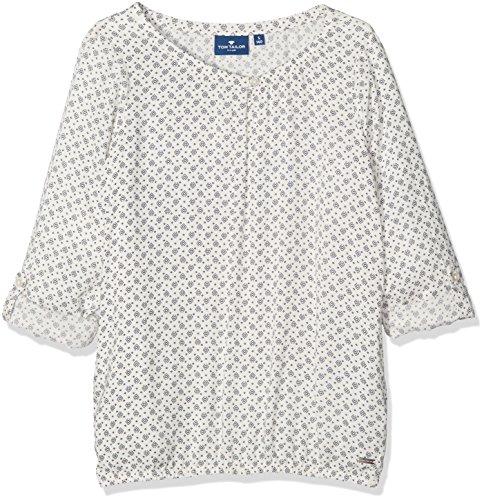 TOM TAILOR Kids Mädchen Printed Blouse Bluse, Elfenbein (Soft Clear White 2067), 164