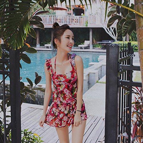 ZZYY*Trois-pièces bikini maillot de bain femme petite poitrine recueillis montrent la plaque d'acier léger chemisier maillot de printemps,L L