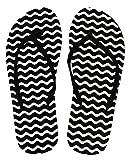 Lady Beach Slipper Black & White 38 Wave Badeschuh, Strandschuh, Sommerlatschen in Schwarz und Weiß
