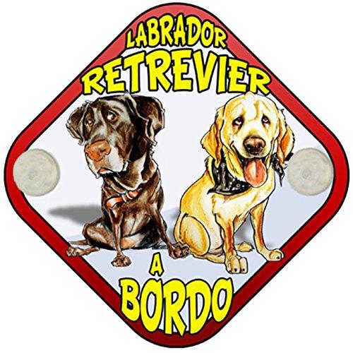 Placa bebé a bordo Labrador Retrevier a bordo perro a bordo
