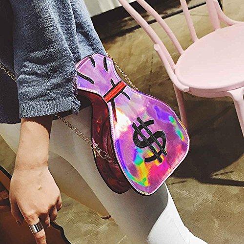 TFgirl Geldbeutel Form Frauen PU Leder Leder Messenger Taschen Lustige Schultertaschen Handtasche Schwarz