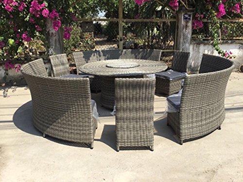Xxl Rattan Lounge Gartenmöbel Garnitur Rondo Für Bis Zu 12 Personen